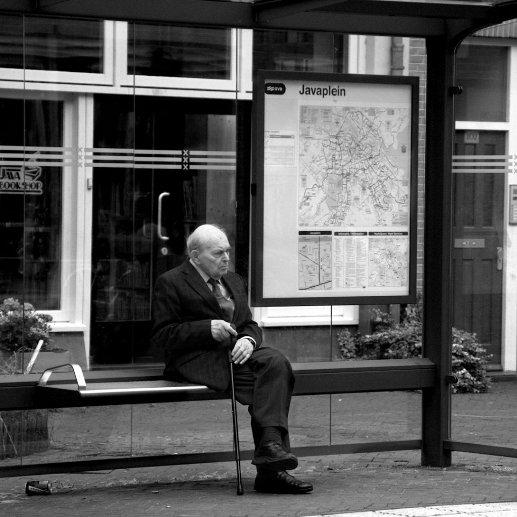 Picture of man Waiting for the streetcar